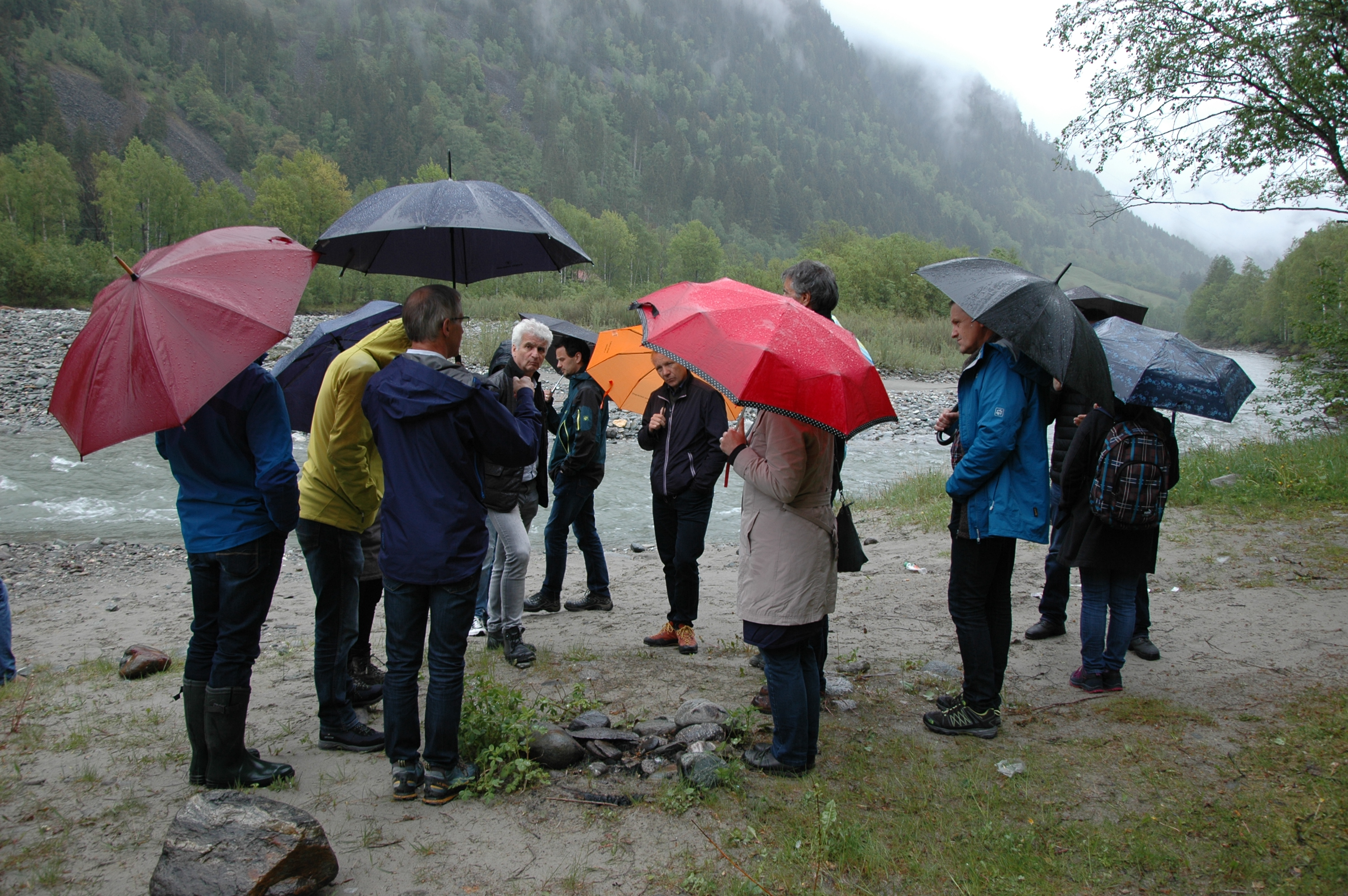 Fluss Besichtigung beim Vernetzungstreffen