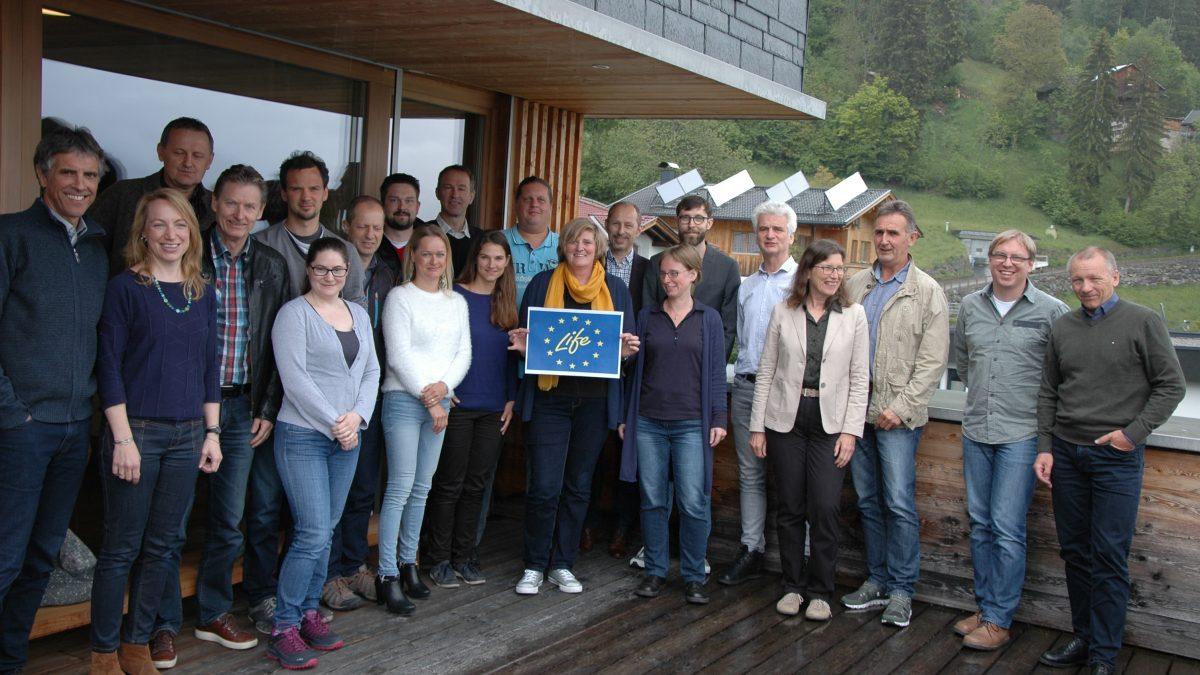 Erstes Vernetzungstreffen LIFE IRIS: Mitarbeiter Foto in Lienz
