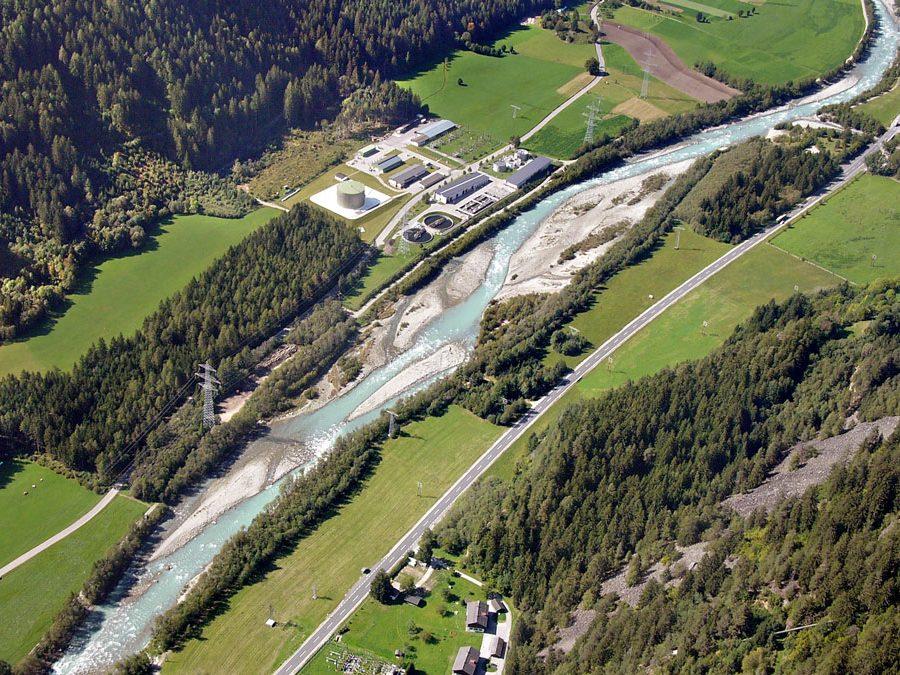 Isel-Drau: Aufweitung des Flusses unterhalb von Kalserbach