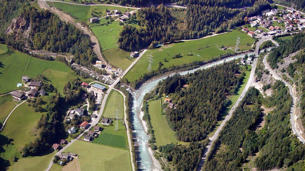 Projektgebiet Isel-Drau: Aufweitung der Isel zwischen Kalserbach und Schwarzachmündung