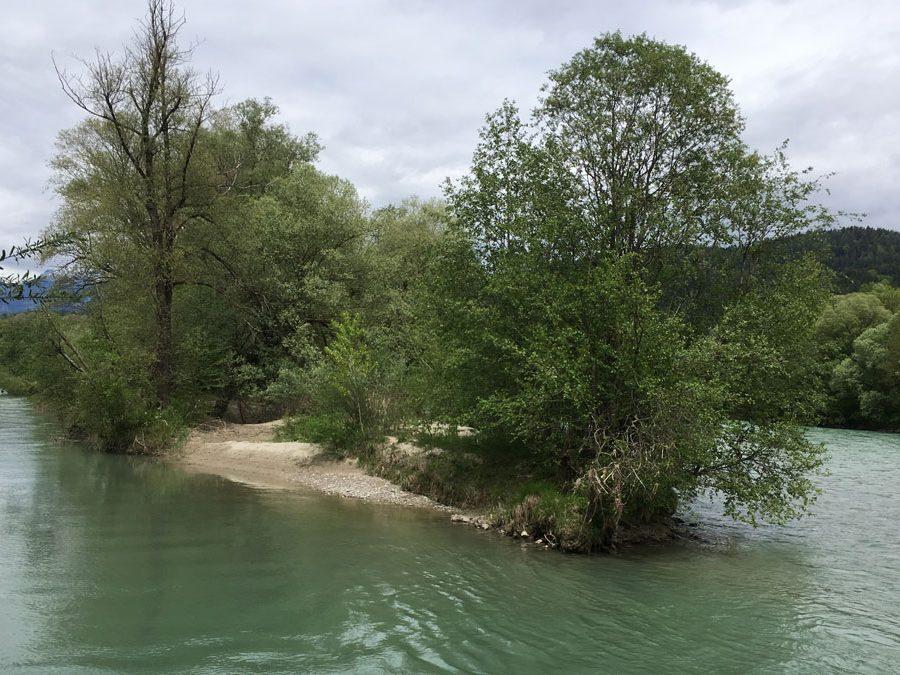 Zielvorstellung und Flussabschnitt der Drau
