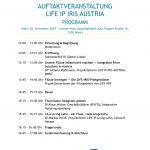Auftaktveranstaltung LIFE IRIS: Programm der Veranstaltung